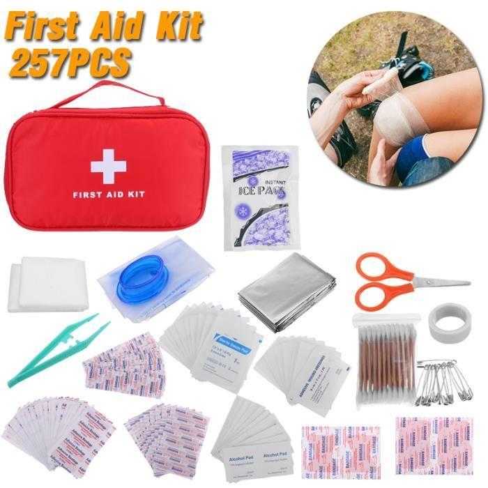 KIT 257Pcs Trousse d'urgence soin premiers secours