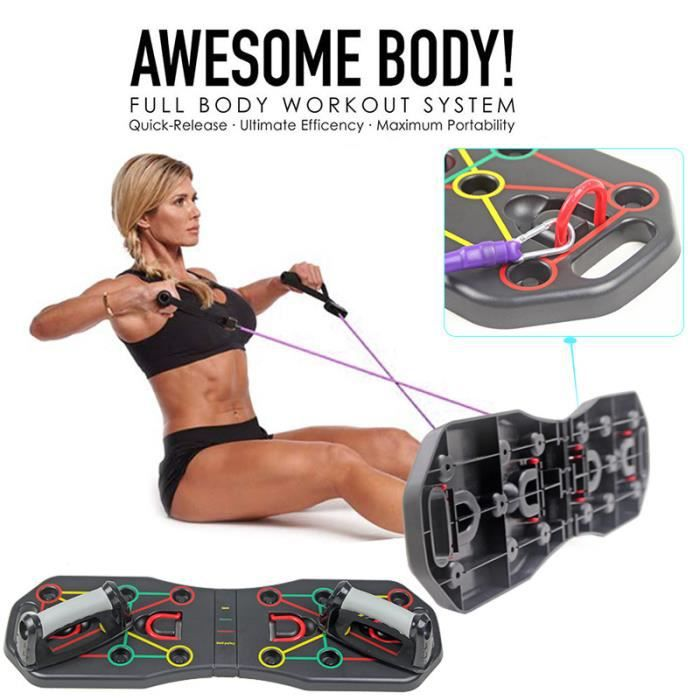 Push Up Board Amovible Portable Multifonction Sport Fitness Musculation Pectoral Latissimus Bras épaules Outil auxiliaire