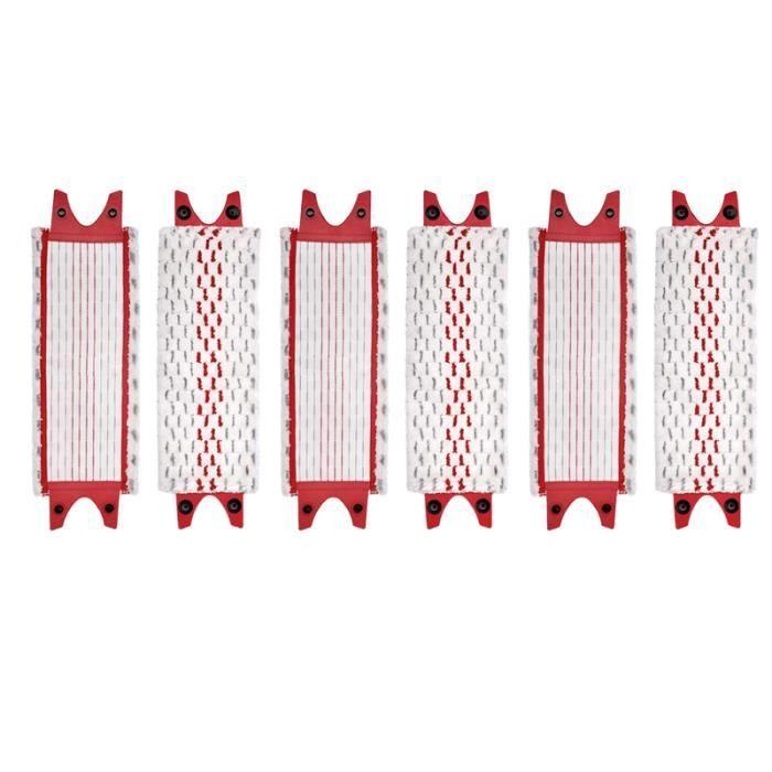 6 PièCes Compatibles avec Vileda Ultramax Vadrouille de Remplacement en Microfibre PulvéRisation TêTe de Vadrouille Plate Chiffon