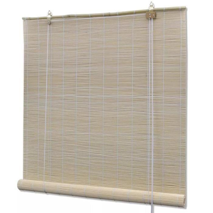 Store roulant en bambou 140 x 220 cm Naturel - Habillages de fenêtre - Stores vénitiens et stores en toile - Brun - Brun