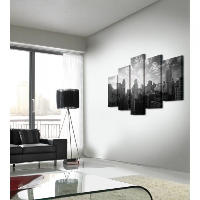 Toile imprim e new york city by 5 mati re pol achat vente tableau toil - Toile imprimee new york ...