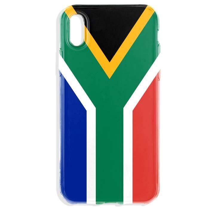coque iphone xr silicone drapeau afrique du sud