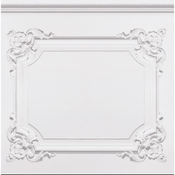papier peint boiserie moulures louis xv blanches achat vente papier peint cdiscount. Black Bedroom Furniture Sets. Home Design Ideas