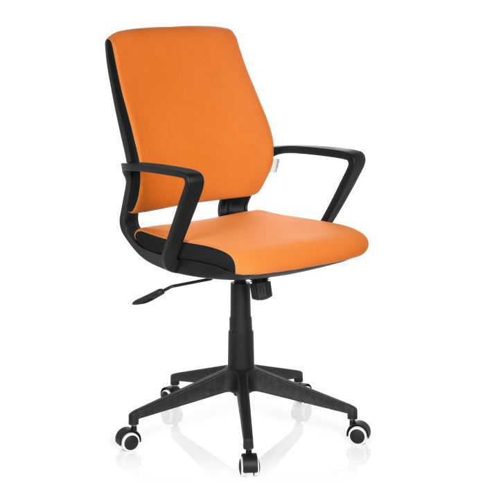 chaise de bureau chaise pivotante estra black achat vente chaise de bureau orange cdiscount. Black Bedroom Furniture Sets. Home Design Ideas