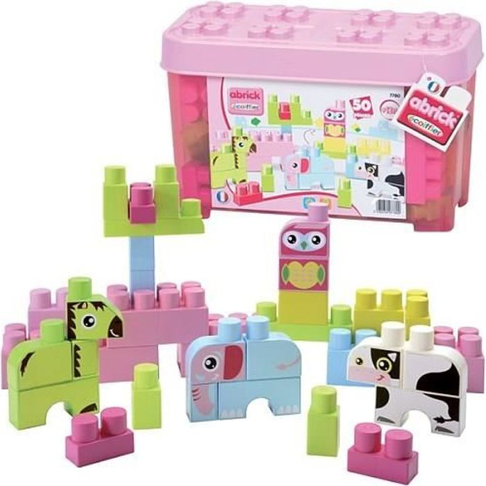 ASSEMBLAGE CONSTRUCTION LES MAXI Baril Animaux Rose