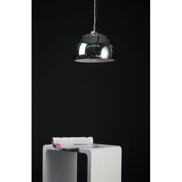 lampe suspendue design en m tal de couleur chrom achat vente lustre et suspension lampe. Black Bedroom Furniture Sets. Home Design Ideas