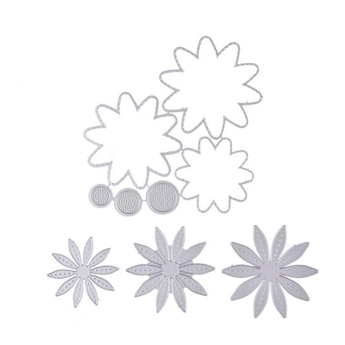 DOMYBEST DIY Outil de Jardin Matrices de D/écoupe Dies Scrapbooking Cutting Decoupage Pochoir Stencil Carte Album Bricolage
