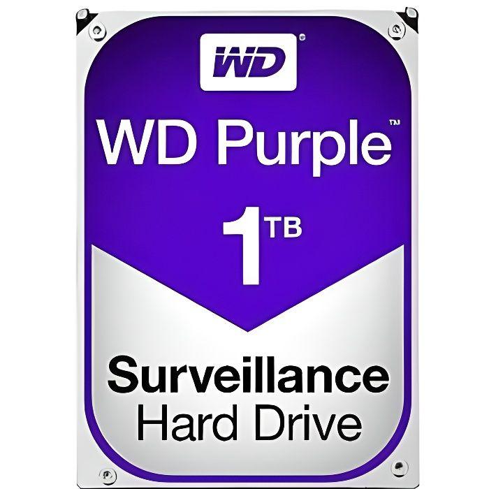 DISQUE DUR INTERNE WD Disque dur Purple Surveillance Hard Drive WD10P