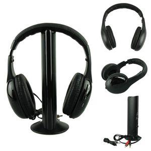 CASQUE - ÉCOUTEURS 5 IN 1 Wireless Headphone Casque Audio Sans Fil Ec