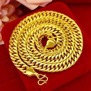 CHAINE DE COU SEULE clavicule collier solide chaîne 18k jaune plaqué o