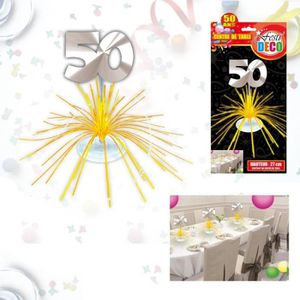 deco table 50 ans achat vente deco table 50 ans pas cher les soldes sur cdiscount cdiscount. Black Bedroom Furniture Sets. Home Design Ideas