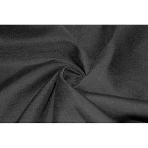 TISSU Tissu Voile Uni Polycoton Noir -Au Mètre