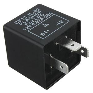 Relais de Clignotant /à 2 Broches Keenso Voyant de Clignotant de Goupille de 12v LED Signal de Clignotant Electronique de Moto R/églable