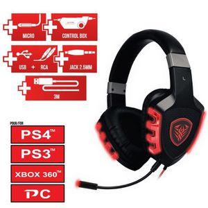 CASQUE AVEC MICROPHONE DEA Factory casque Gaming Scorpio 7.1 PS4/PS3/Xbox