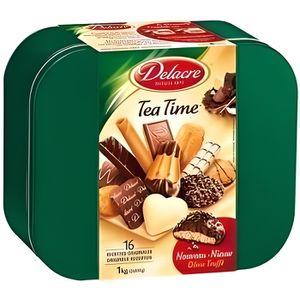 BISCUITS SECS DELACRE Tea Time Boite Métal 1kg
