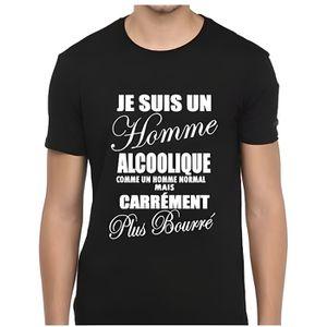 T-SHIRT Tee-shirt humour je suis un homme alcoolique - T-s