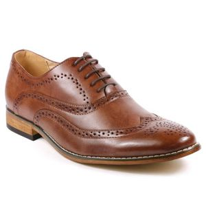 RICHELIEU MC102 Wing Tip Lace Up Oxford perforé Chaussures R
