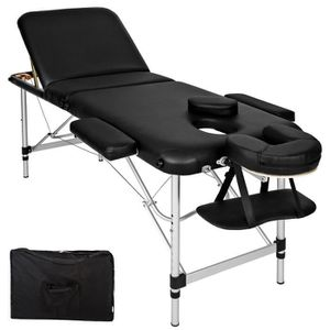 TABLE DE MASSAGE Table de massage Pliante 3 Zones Aluminium, Cosmét