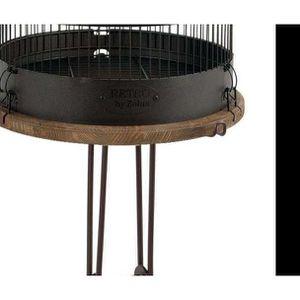NICHOIR - VOLIÈRE Ensemble cage rétro pour oiseaux Lisette avec pied