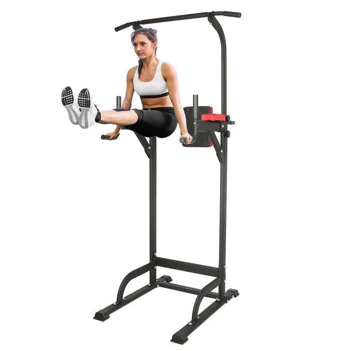 Power Tower, Chaise Romaine Barre de Traction, Tour de Musculation Multifonction Appareil d'entraînement à la maison