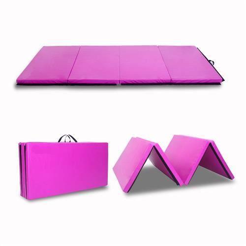 Tapis de Gymnastique Pliable- 240x120x5cm-Gym pour Fitness, Yoga-violet