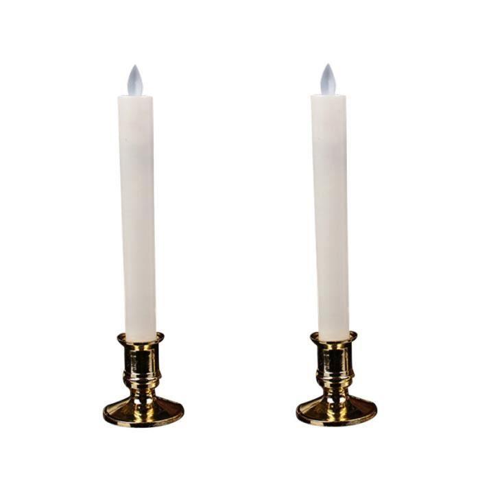 2 paires de bougies électroniques longues décoratives LED lampes de bougie de simulation fournitures de SPOTS - LIGNE DE SPOTS