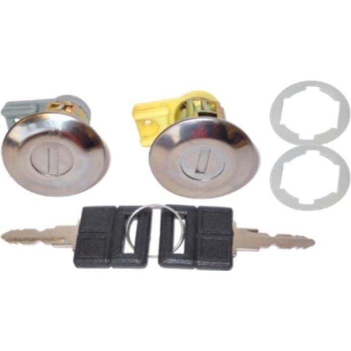 Kit de 2 barillets - serrures de portes Peugeot 106 - 205 - 309 - 405 - 252196 - AF020033TP