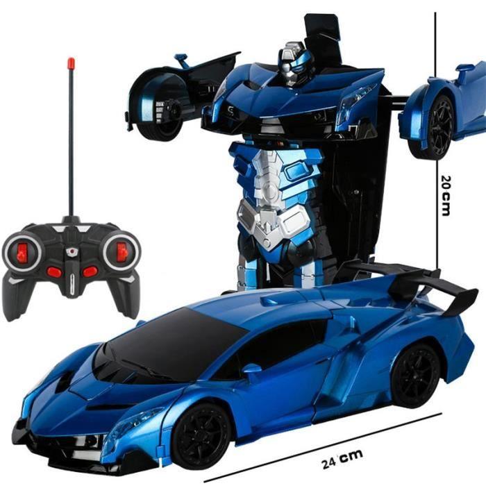 2 en 1 électrique RC voiture Transformation Robots enfants garçons jouets en plein air télécommande sport déformation voiture Robots