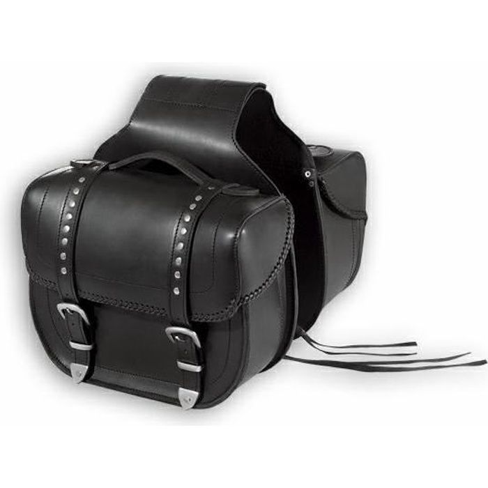 Sacoche Cavaliere Cuir Double Bagages Valises M...