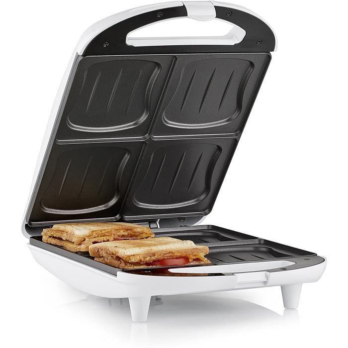 Appareil à croque-monsieur Tristar SA-3065 – 4 sandwiches à la fois – Revêtement antiadhésif [Classe énergétique A+]