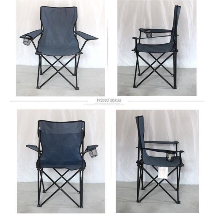 Chaise de camping en tissu Oxford ultra-léger, chaise longue pliable, pratique pour la pêche, pique-nique, barbecue, plage, HWC