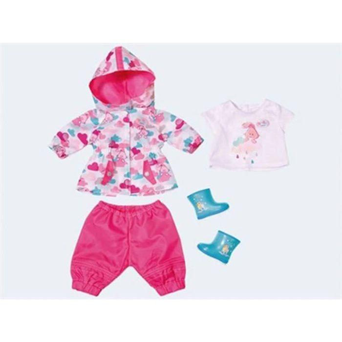 Poupées et accessoires Baby Fun Born Deluxe dans les vêtements de pluie ensemble