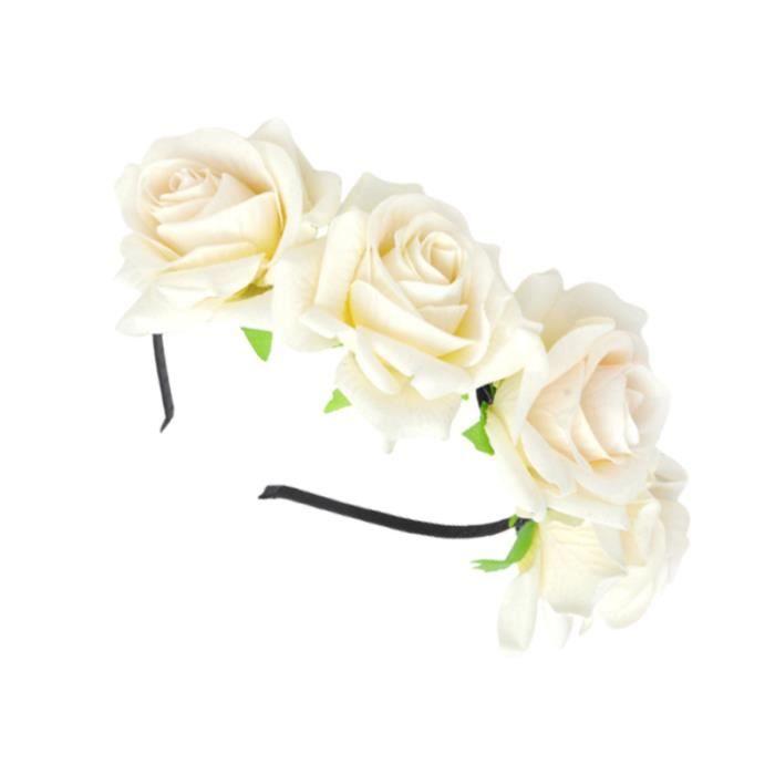 Rose artificielle Cerceaux De Fleur Bandeau Floral Accessoire Coiffure En BANDEAU - SERRE-TETE - HEADBAND - HAIRBAND