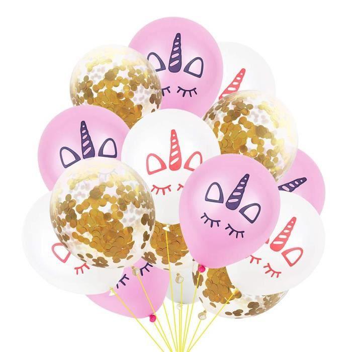 Confettis Mariage Ballons Couronne Ballon Mariage Or Ballon Confettis Ballons Anniversaire pour Fête Décorations ☌6338