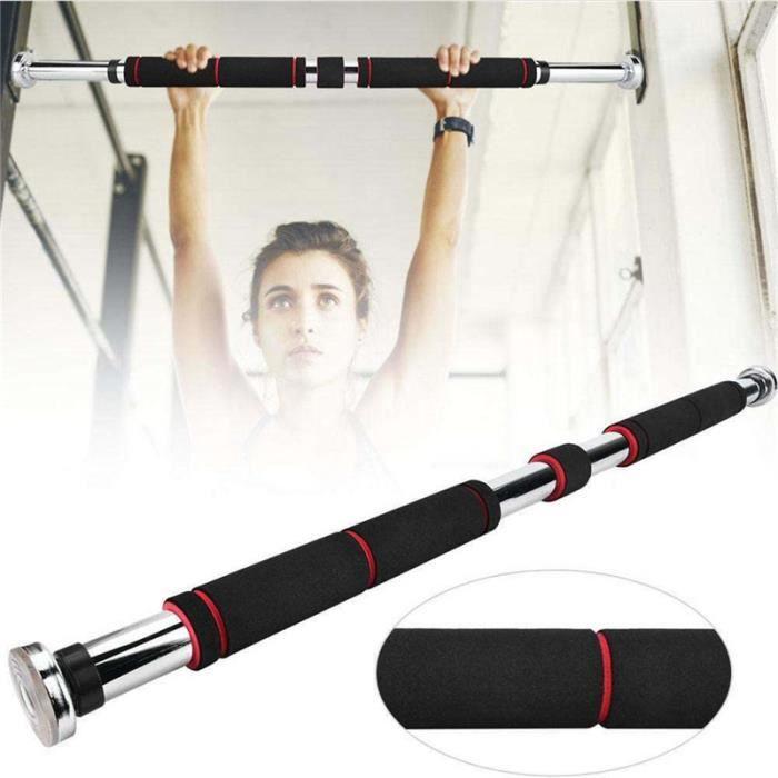 Barre de Traction de Porte - MAX 85kg Gym Barre Horizontale Réglable de Porte de Gym Exercice Fitness à Domicile