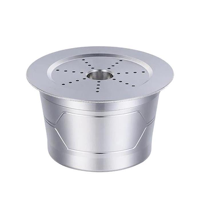 Réutilisable Café Capsule, acier inoxydable Capsule pour Caffitaly S21 S22 avec Cuillère En Plastique Brosse de Nettoyage Facile
