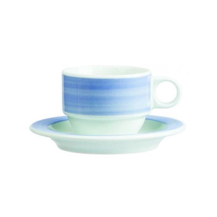 Lot de 6 Tasses à thé Kromatik bleue - 22cl
