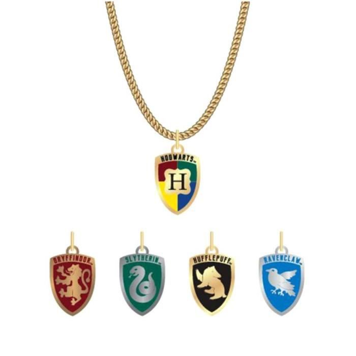 Collier officiellement breveté Harry Potter House Crest avec des charmes