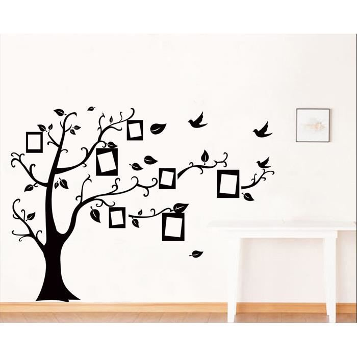 arbre noir cadre photo mur de photo muraux stickers d coration murale achat vente stickers. Black Bedroom Furniture Sets. Home Design Ideas
