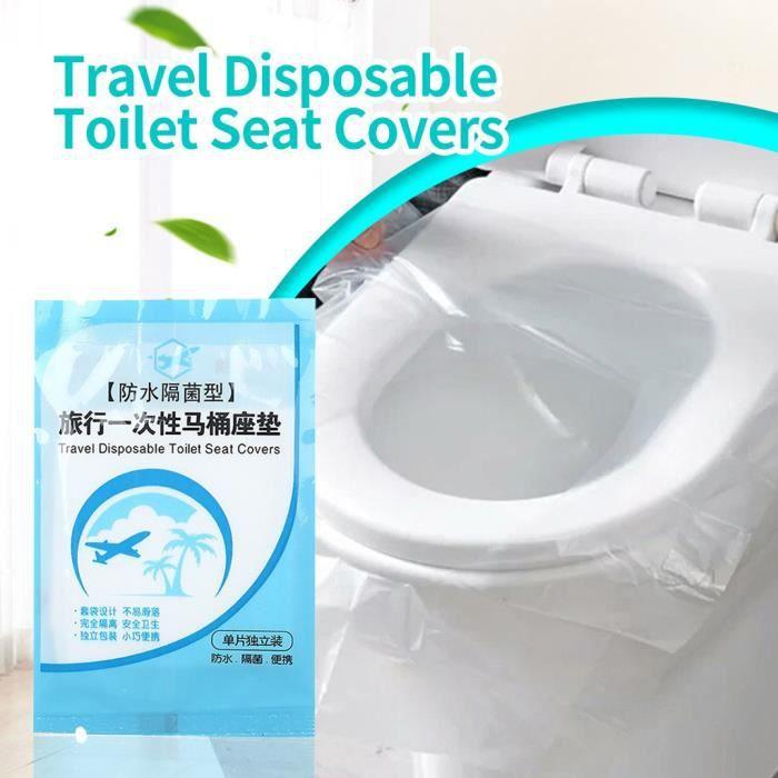 50PCS Jetable Voyage Imperméable Toilette Siège Coussin Tapis Housse Super