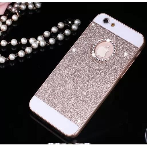 coque iphone 5 5s paillettes or bling bling diaman