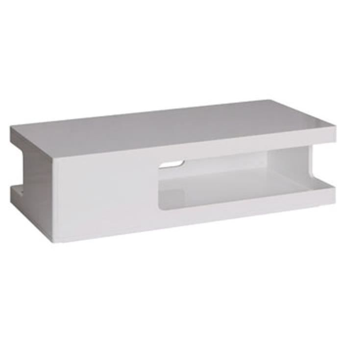 table basse rectangulaire laqu e blanc table basse. Black Bedroom Furniture Sets. Home Design Ideas