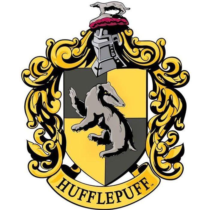 Blason En Carton Maison Poufsouffle Poudlard Harry Potter 61x48 Cm