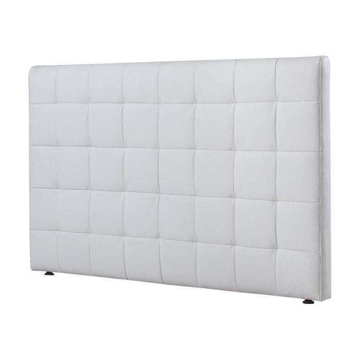 tete de lit grid blanc 160 cm achat vente t te de lit cdiscount. Black Bedroom Furniture Sets. Home Design Ideas