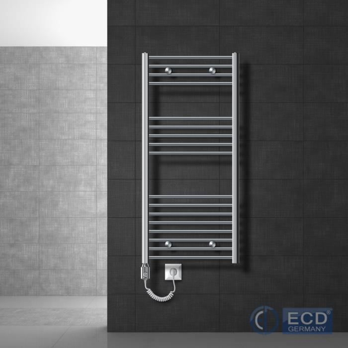 ECD Germany Radiateur de salle de bain /électrique Iron EM Blanc 1200 W 500 x 1600 mm