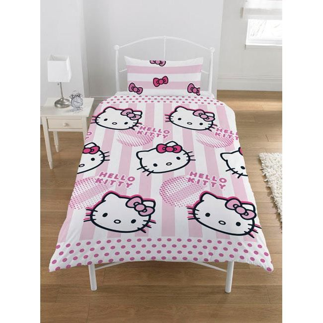 hello kitty parure housse de couette achat vente. Black Bedroom Furniture Sets. Home Design Ideas