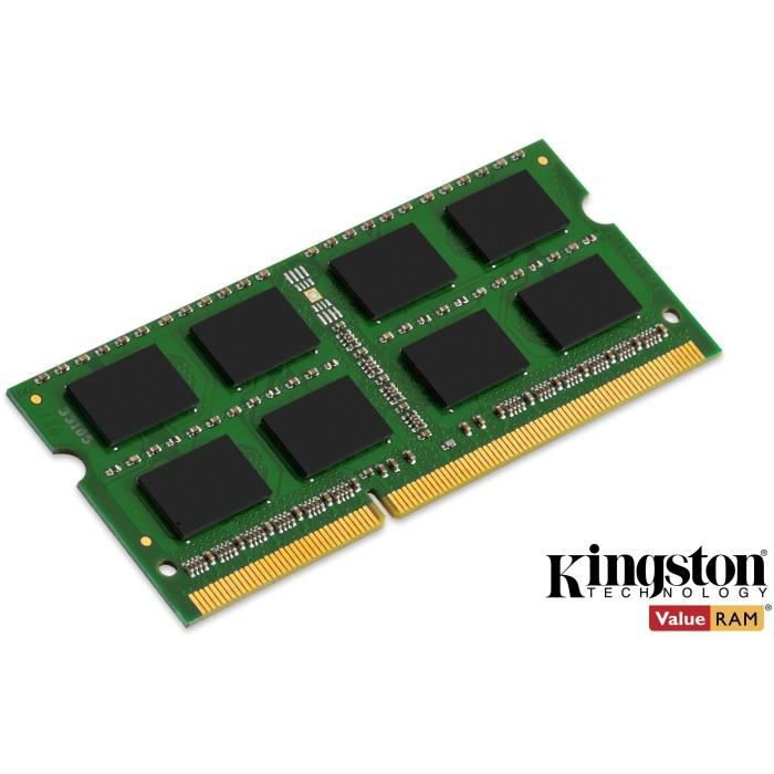 MÉMOIRE RAM Kingston 4Go DDR3 SODIMM 1600MHz