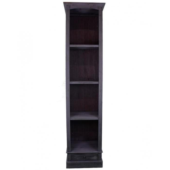 grande biblioth que meuble haut de rangement 4 etag res. Black Bedroom Furniture Sets. Home Design Ideas