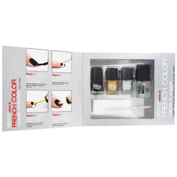 coffret vernis ongles french color miss cop achat vente vernis a ongles coffret vernis. Black Bedroom Furniture Sets. Home Design Ideas