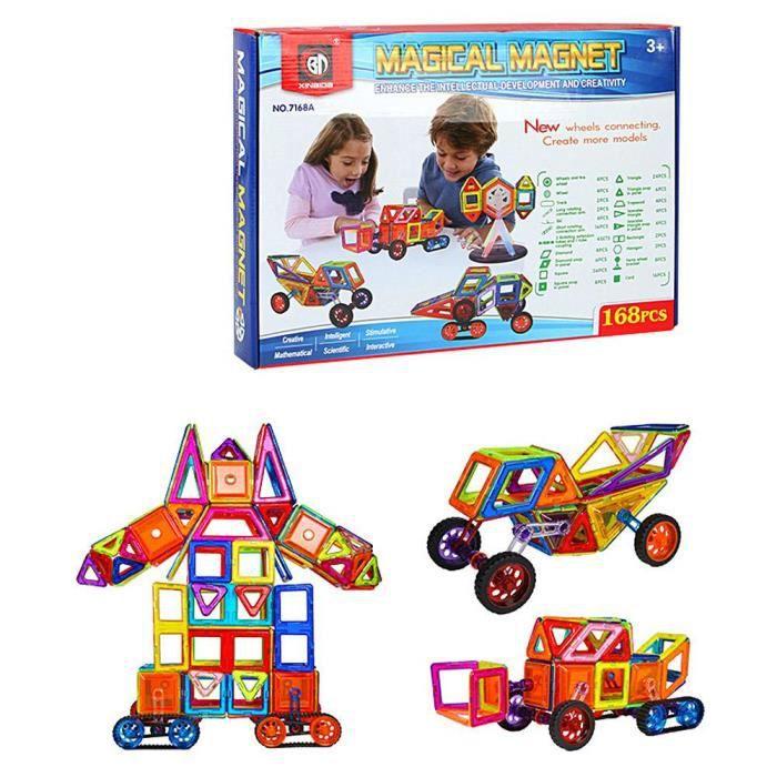 ASSEMBLAGE CONSTRUCTION MOGOI 168pcs Jouet Pièce magnétique pour enfants A